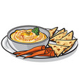 humus with pita vector image vector image