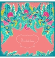 Invitation card with abstract flowers and leaves vector image vector image