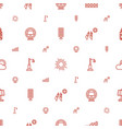 light icons pattern seamless white background vector image vector image
