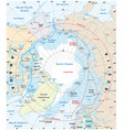 map arctic region northwest passage vector image