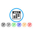 may calendar grid rounded icon vector image vector image