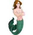 Mermaid boy vector image vector image