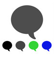 message bubble flat icon vector image vector image