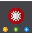 modern circle icons set on gray vector image vector image