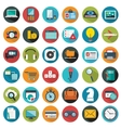 Modern flat icons collection with long vector image vector image