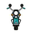 motorcycle flat scribble vector image vector image