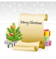 Paper scroll for christmas congratulations vector image vector image