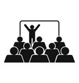 presentation icon simple style vector image vector image