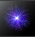 purple lightning bolt vector image