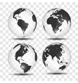 realistic world map in globe shape earth on vector image vector image