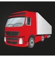 red delivery truck - isolated vector image vector image
