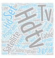 satellite tv hdtv text background wordcloud vector image vector image