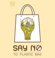 say no to plastic vector image vector image