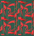 seamless pattern with red flags vector image