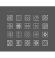 Set of minimal geometric shapes vector image vector image