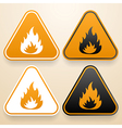 Set of triangular signs of danger of white black