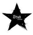 star shape grunge style vector image vector image