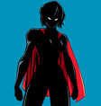 superheroine battle mode silhouette vector image vector image