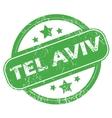 Tel Aviv green stamp vector image