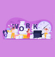 tired people composition vector image vector image
