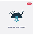 two color download from virtual cloud icon from vector image vector image