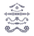 vintage ornament dividers hand drawn ornamental vector image vector image