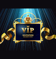 vip invitation card glamour celebration party vector image vector image