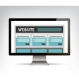 web design template in electronic device computer vector image