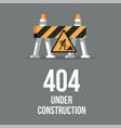 website under construction internet 404 error vector image