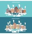 Winter urban landscape City vector image vector image
