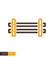 wooden farm fence from crossed planking icon vector image