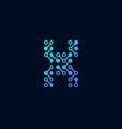 x circuit digital letter logo icon design vector image