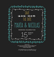 save the date vintage drawing frames to vector image