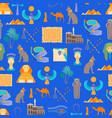cartoon symbol of egypt seamless pattern vector image