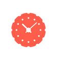 circular red clock icon vector image