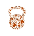 sports kettlebell vector image