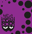 Cute bubbly monster vector image
