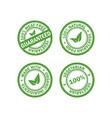 set of vegetarian food stamps vector image