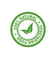 100 natural food stamp vegetarian food icon vector image vector image