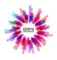 Abstract Circle Banner Stylized Firework vector image vector image