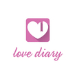 Abstract icon of pink diary vector image