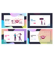 aesthetic stomatology service landing page vector image vector image