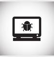 anti virus monitor on white background vector image