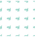 aqualung icon pattern seamless white background vector image vector image