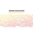 arrow navigation concept vector image vector image