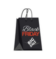 black friday shopping bag and big sale tag vector image vector image