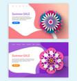 blossom ornament summer sale origami vector image
