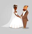bride and groom newlyweds cartoon vector image vector image