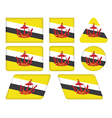 buttons with flag of Brunei vector image vector image