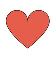 cartoon heart icon image vector image vector image